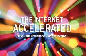Work faster, work smarter, with Fibre Optic Broadband from Zen Internet. Fibre Optic Broadband - Up to 38Mbps downstream from £23/month ex VAT.. Buy it Now.